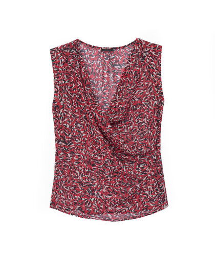 Women's printed voile top - IKKS Women